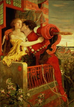 Romeo and Juliet, by Ford Madox Brown 1867
