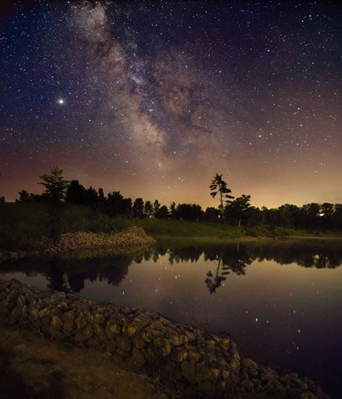The Milky Way Over Ontario by Kerry-Ann Lecky Hepburn