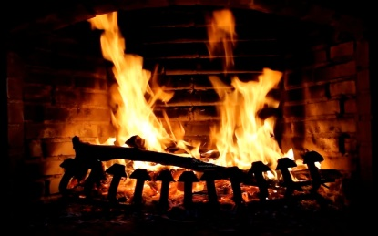 The magic of a fireplace...