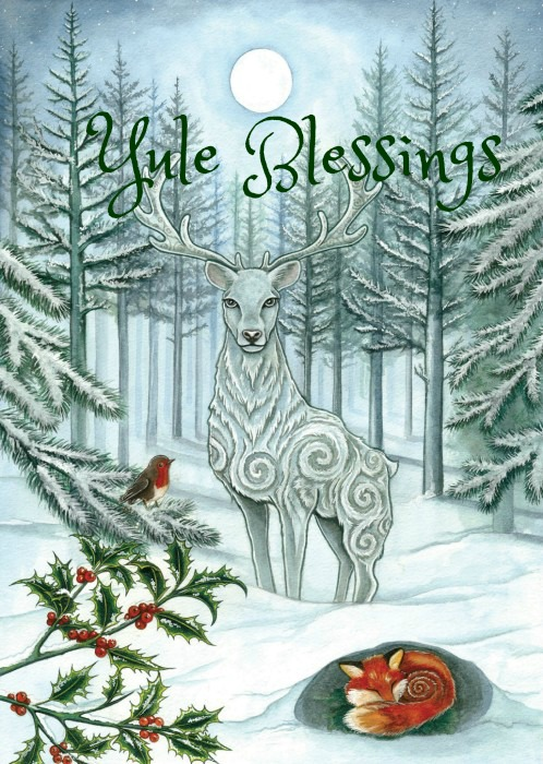 Winter-Solstice-Yule-Stag-Fox-Blessings